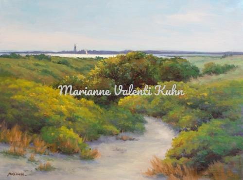 Nantucket Dunes by Marianne  V.  Kuhn