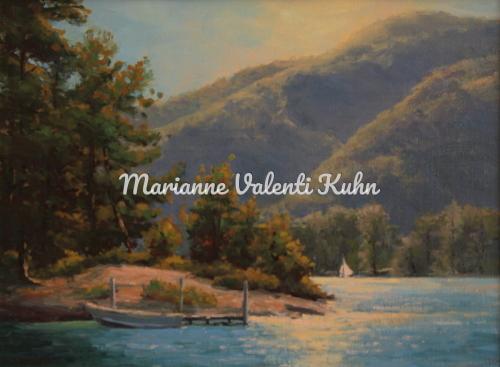 Last Light on Duran Island by Marianne  V.  Kuhn
