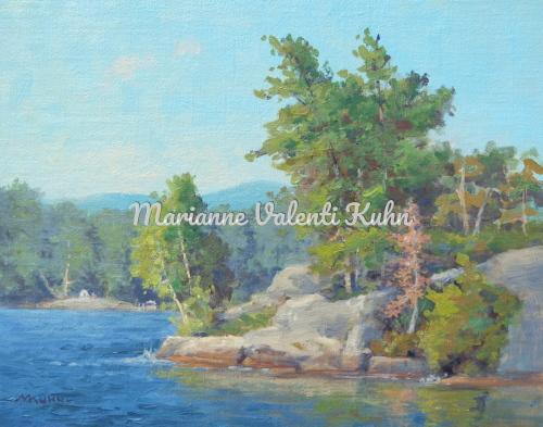 Artist Rock Island by Marianne  V.  Kuhn