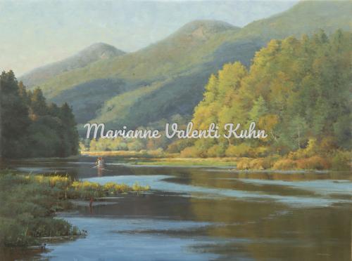 Northwest Bay Stream by Marianne  V.  Kuhn