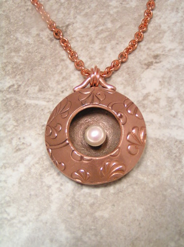 Pearl Pendant by Bronze Goddess Jewelry