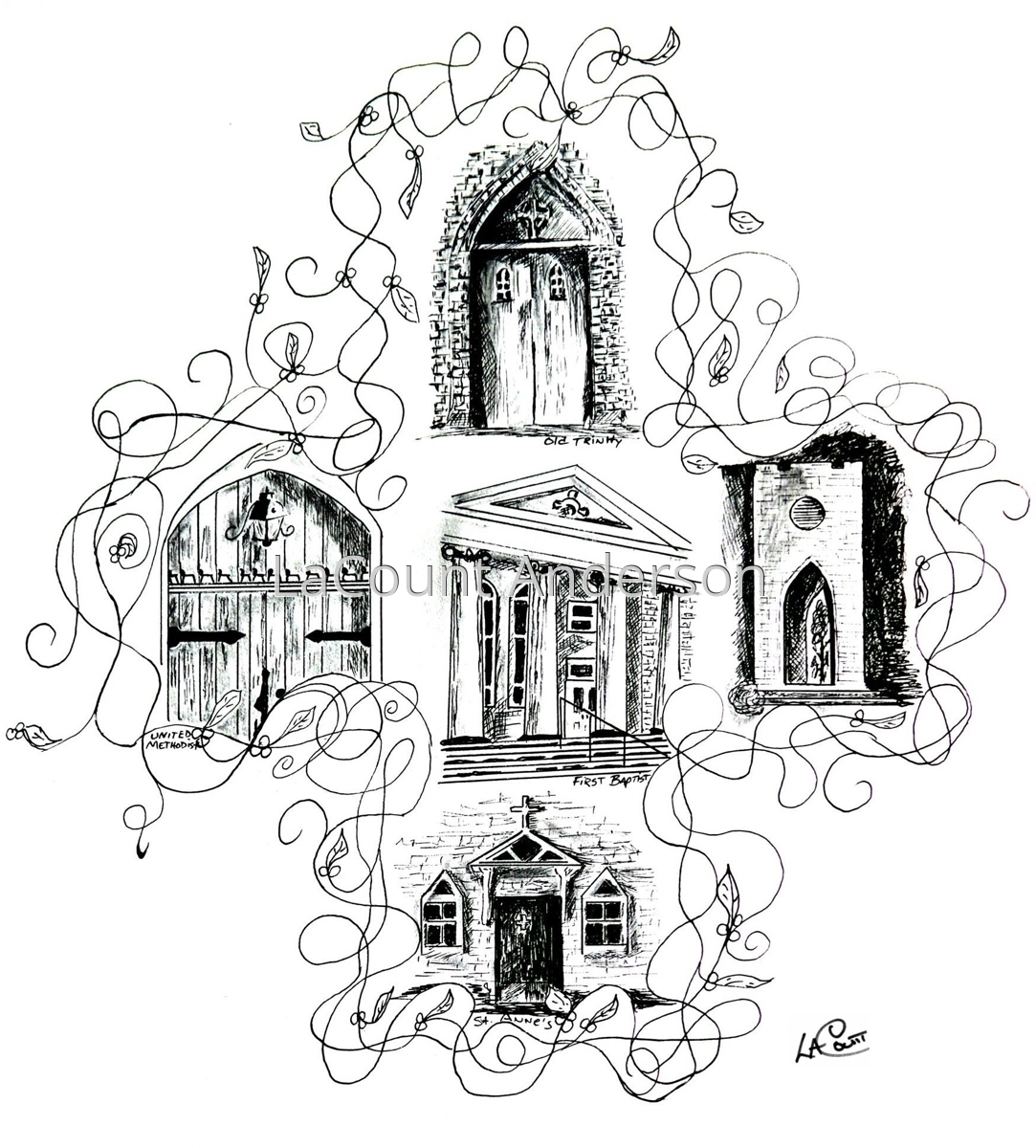 Church Doors, Scotland Neck (large view)