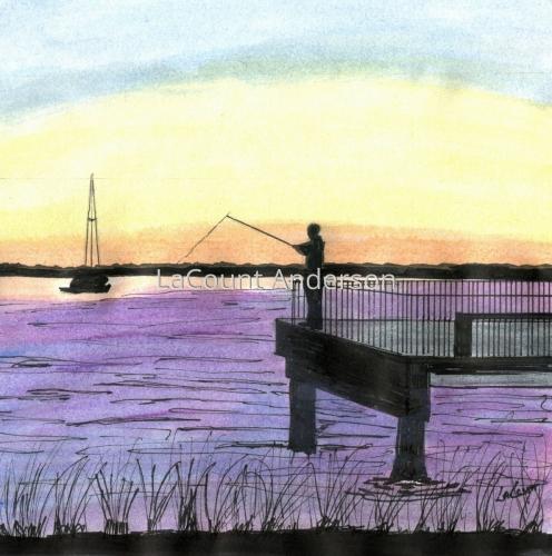 Sunset Fishing at St. Simons Island