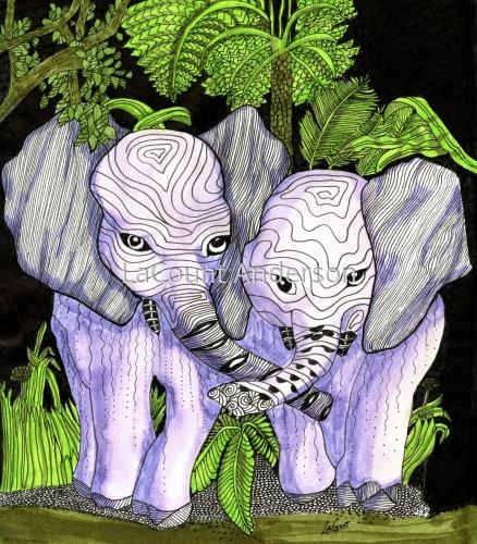 Friendly Elephants