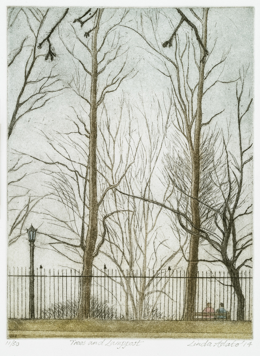 Trees with Lamppost (large view)
