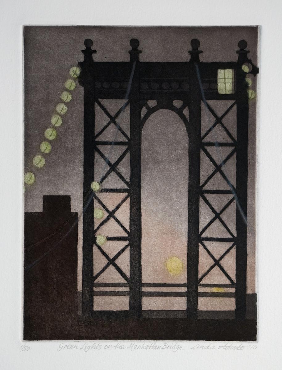 Green Lights on the Manhattan Bridge (large view)