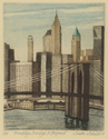 Etching,aquatint,hand-pulled,urban landscape,Brooklyn - Figurative Print Making