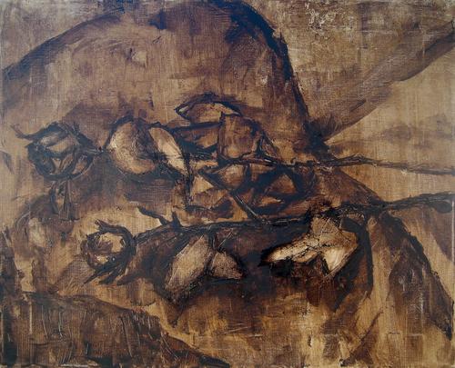 Untitled (tar roses)