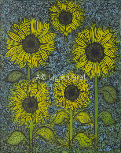 The Sunflowers by Liz Amaral