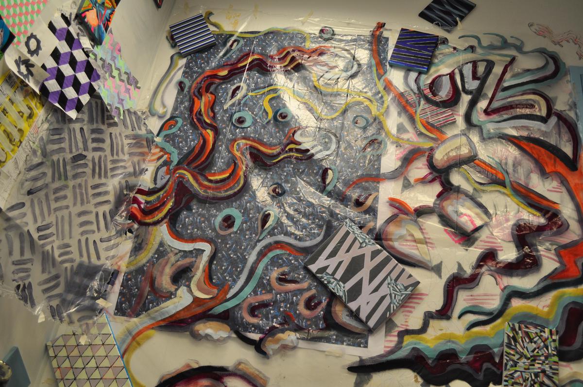 Teeth and Eyeballs Studio Mural (large view)