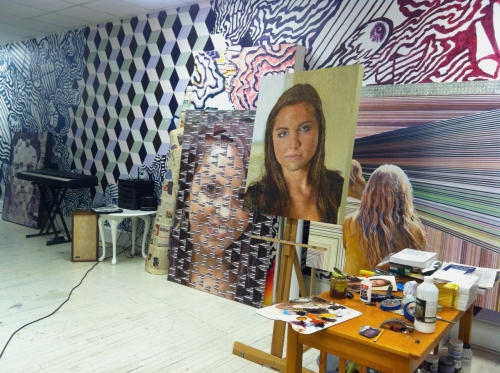 Signature Studio Mural (with artwork) (large view)