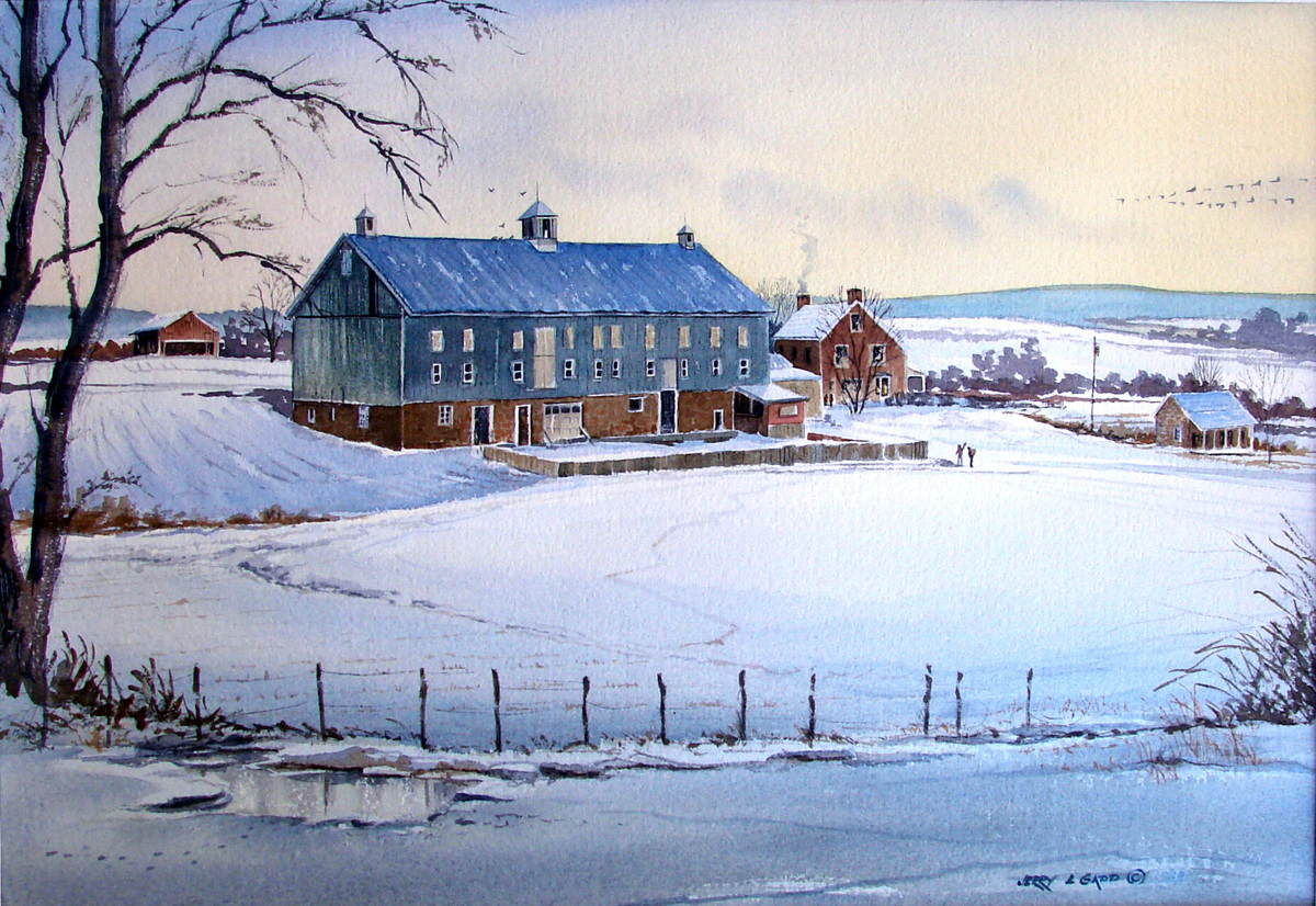 """""""Evening Snow"""" (large view)"""