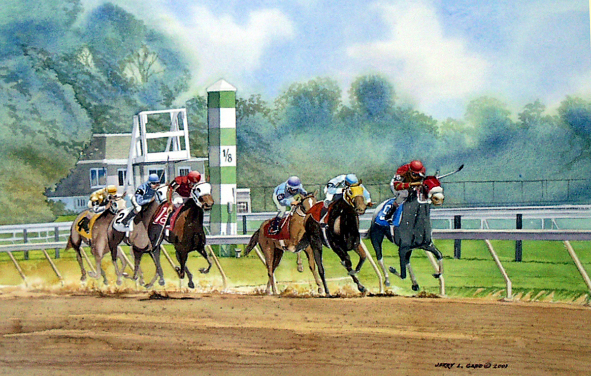Pimlico - Down the Stretch They Come. (large view)