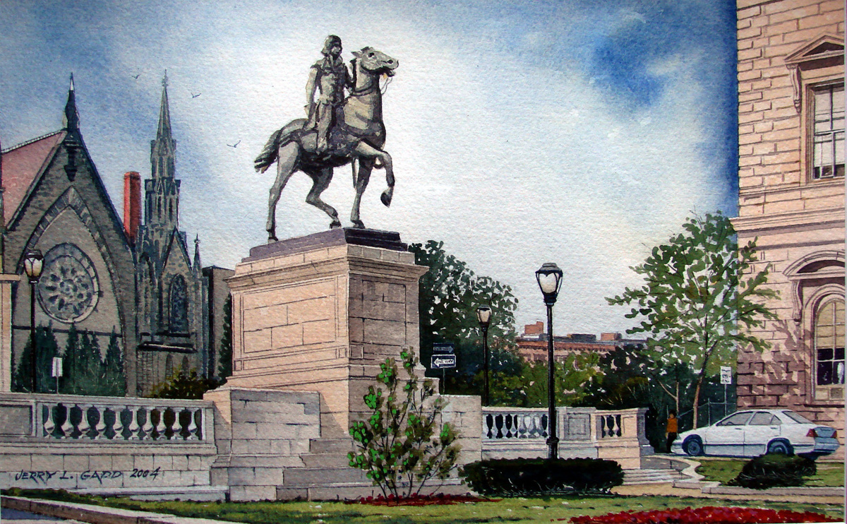 Mt. Vernon Square. Baltimore, Maryland. (large view)