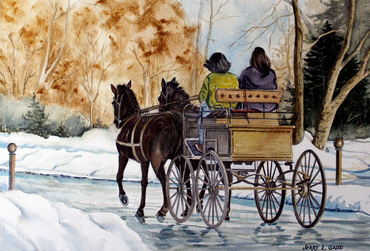 Wagon in snow (large view)