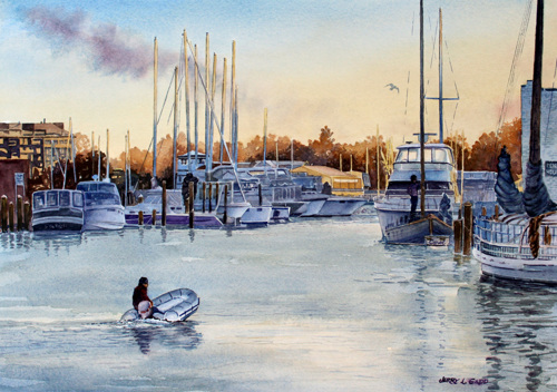 Sunset at Annapolis Harbor by Jerry L. Gadd