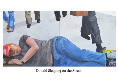 Donald Sleeping on the Street