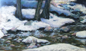 Painting--Pastels-LandscapeQuiet Waters, Glenwood Canyon