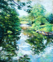 Summer Morning, Falling Spring (thumbnail)