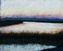 Painting--Pastels-LandscapeLow Country Evening, Lazaretto Creek, Savannah