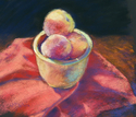 Painting--Pastels-Still LifeFranklin County Peaches