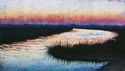 Painting--Pastels-LandscapeEvening Peace, Savannah Marshes