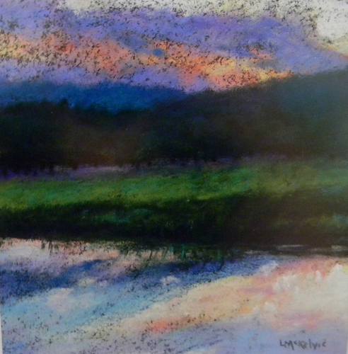 Painting--Pastels-LandscapeEvening, Hauser Winery, PA