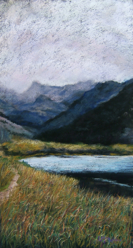 Painting-Snow Squall, Piney Lake, CO