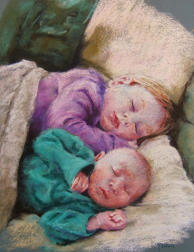 Painting--Pastels-PortraitLea and Wesley