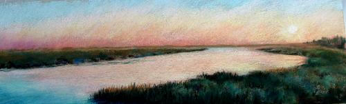 Summer Evening, Savannah Marshes