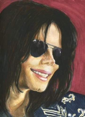 Michael Jackson  by Laura Brown Paintings