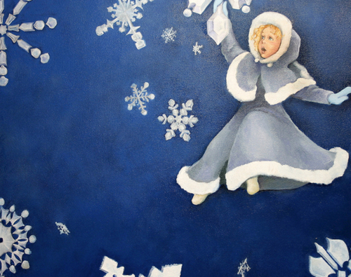 Snowflake Fairy by Laura Brown Paintings