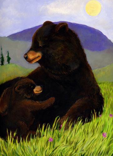 springtime bears (large view)