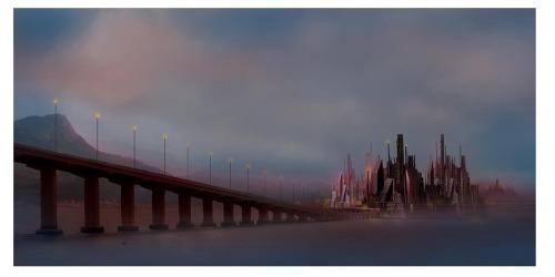 Digital Fantasy Landscape (large view)