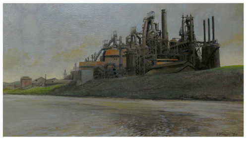 Steelworks from River (large view)