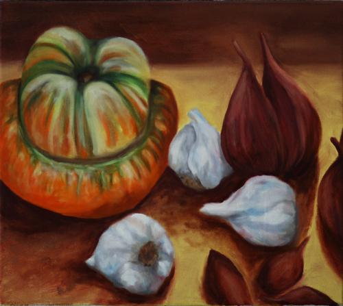 Turban Squash with Garlic and Shallots (large view)