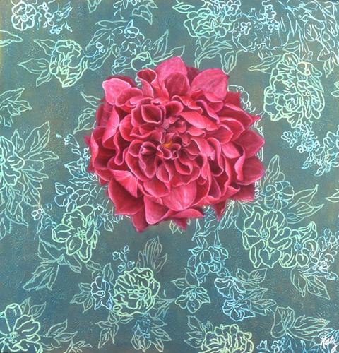 Plum Dahlia by Lori Beth Katz
