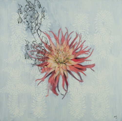 Dahlia with Yucca Flower by Lori Beth Katz