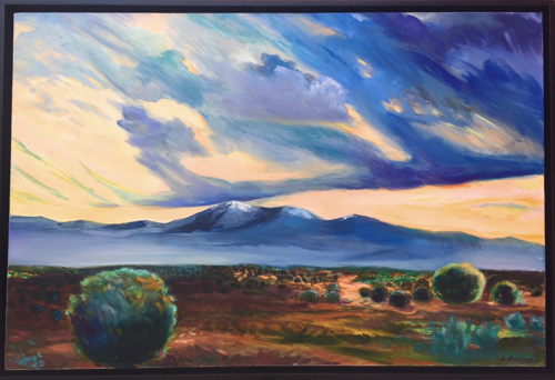 Tesuque Pueblo by Lee Bowers Oil Paintings - Chickasaw