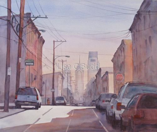 17th Street Sunset by Lisa C Budd, AWS