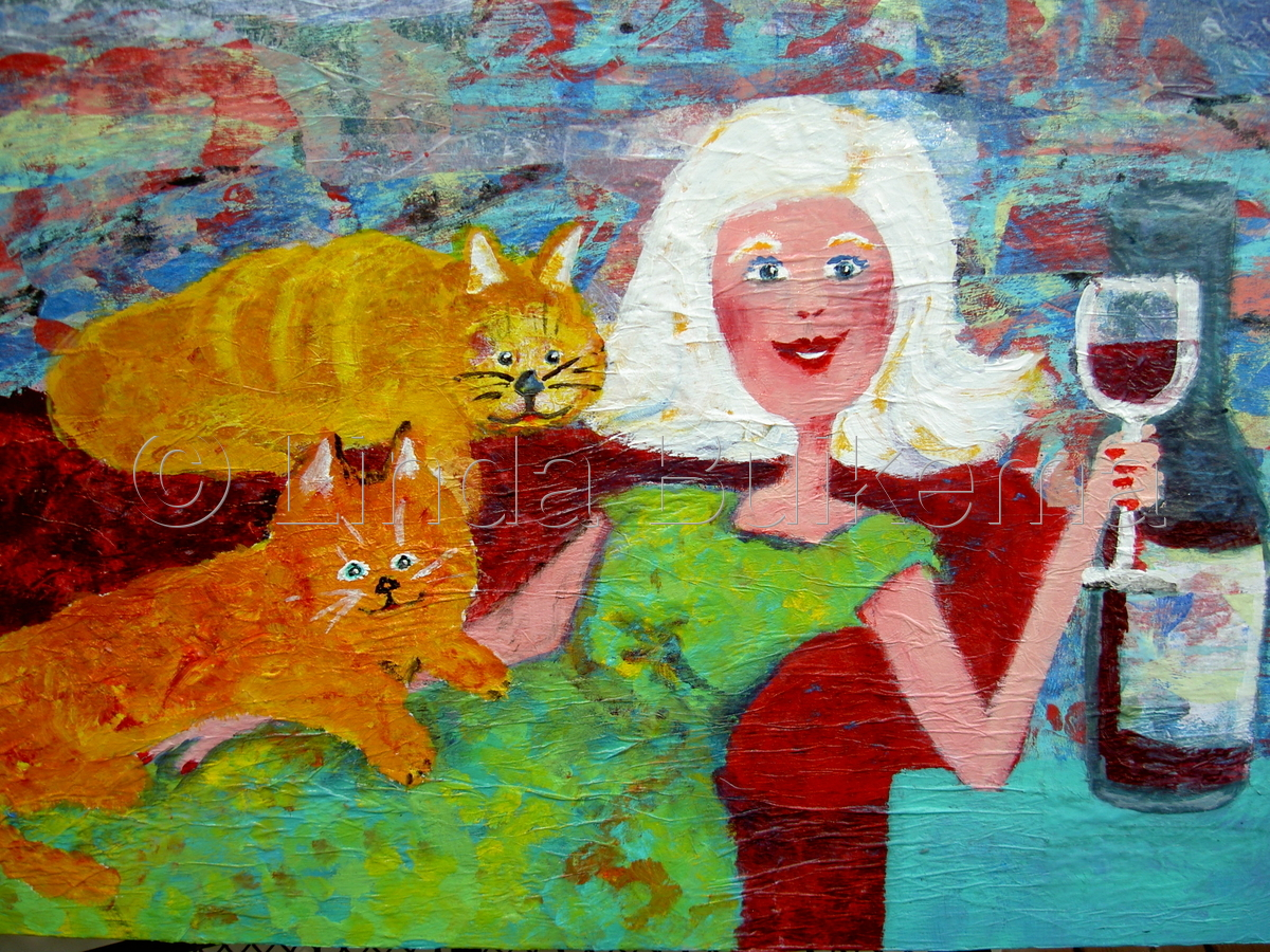 Wine and Cats (large view)