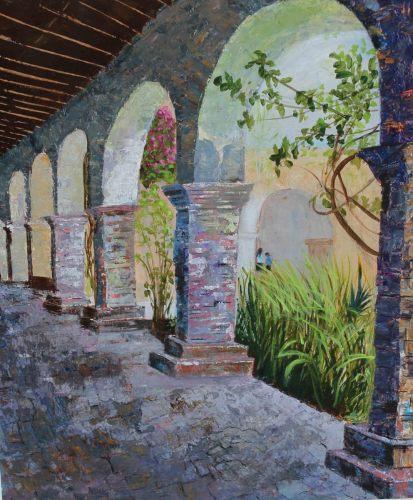 San Juan Capistrano Mission by Lynda Cheeley Fine Art