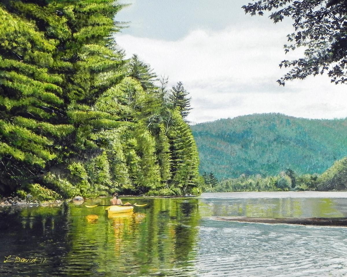 On Palmer Pond, Adirondacks (large view)