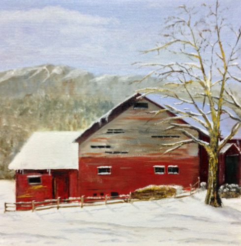 Adirondack Red Barn by Lisa  David: Classic, Rustic, Vintage. Painting the Adirondacks and New York.