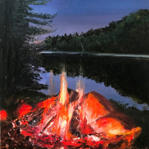 First Star Adirondack Camp Fire