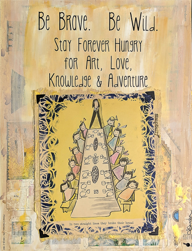 Stay Forever Hungry by The Art of Laura Davidson