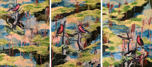 Faith Hope Courage Triptych by The Art of Laura Davidson