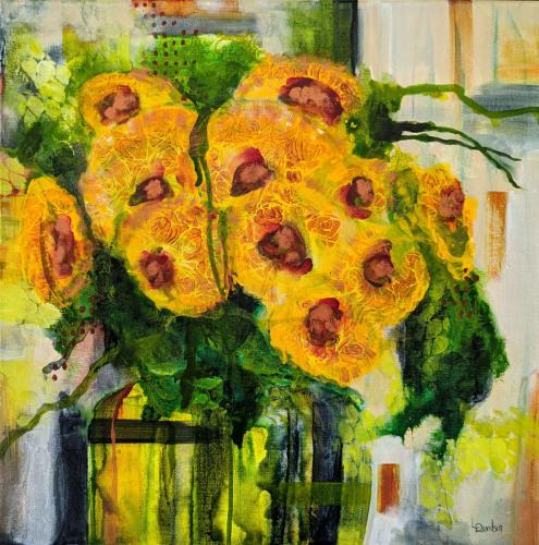Dripped Sunflowers
