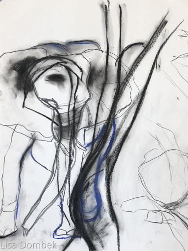 Elephant with Figure study
