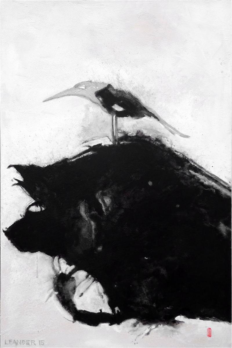 Bird on Head (large view)